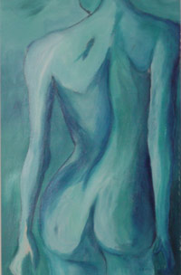 Painting of Nude by Cathy Back of Opacity Design